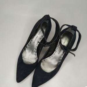 """3/25 Audrey Brooke """"Mariah"""" Leather Ankle Strap"""